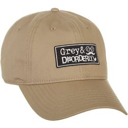 Grey & Disorderly Mens Solid Patch Baseball Hat
