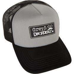 Grey & Disorderly Mens Logo Mesh Trucker Hat