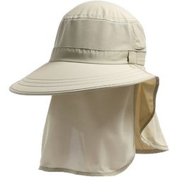 Mens Solid Vented Sun Shield Hat
