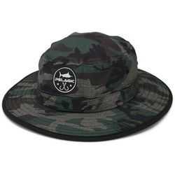 PELAGIC Mens Sunsetter Fish Camo Bucket Hat