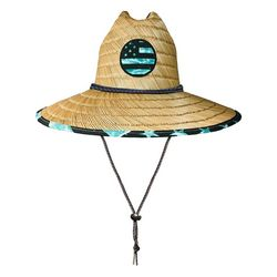 Awayalife Mens Water American Flag Straw Hat