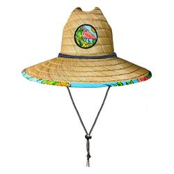 Mens Flamingo Pineapple Straw Hat