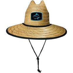 Mens Shark Print Lifeguard Straw Hat