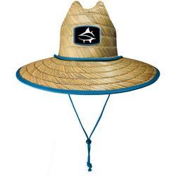 Mens Barracuda Print Lifeguard Straw Hat