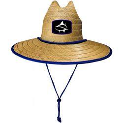 Loco Skailz Mens Parrotfish Print Lifeguard Straw Hat