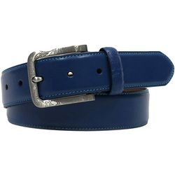 Tallia Mens 35mm Leather Buckle Belt