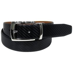 Tallia Mens 32mm Carbon Fiber Leather Belt