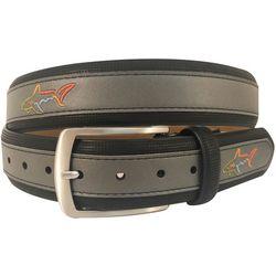Mens Leather Logo Belt