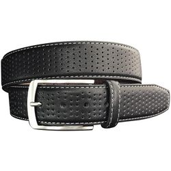Greg Norman Collection Mens Perforated Leather Belt