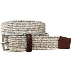 Mens Braided Heathered Stretch Belt