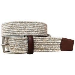 Mens Braided Heathered Stretch Belt