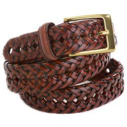 Mens Leather Braided Belt