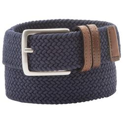 Mens Braided Fabric Stretch Belt