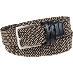 Dockers Mens 35mm Braided Leather Belt
