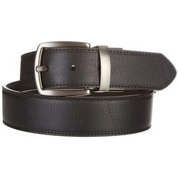 Mens Cut Edge Reversible Leather Belt