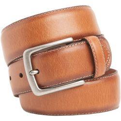 Mens 38mm Metal Buckle Leather Belt