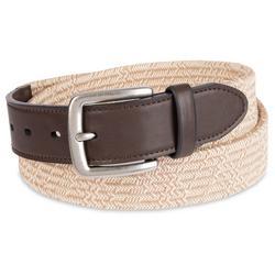Mens Elevated Weave Fabric Stretch 30mm Belt