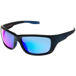 Mens Rubberized Wrap Sunglasses