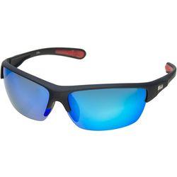 Dockers Mens Rimless Wrap Polarized Sunglasses