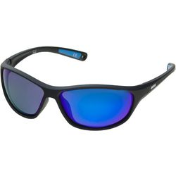 Dockers Mens Polarized Lenses Wrap Sunglasses