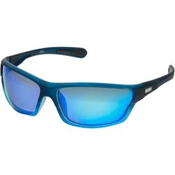 Dockers Mens Polarized Blue Wrap Rectangle Sunglasses