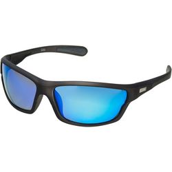 Dockers Mens Polarized Wrap Rectangle Sunglasses