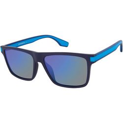 Unionbay Mens Plastic Tinted Rectangle Sunglasses