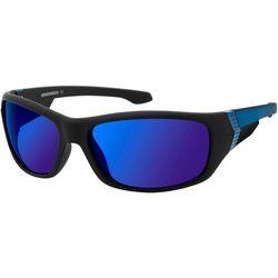 Unionbay Mens Mirrored Lens Sport Wrap Sunglasses