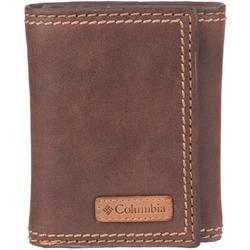 Mens Solid RFID Shield Trifold Leather Wallet