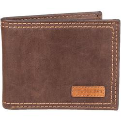 Mens RFID Protected Passcase Bifold Wallet