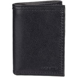 Mens RFID-Blocking Trifold Wallet With Zipper Closure