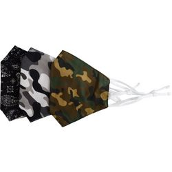 Be Wise Mens 3-pk. Camo Face Masks