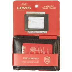 Mens RFID-Blocking Magnetic Fold Wallet