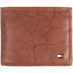 Tommy Hilfiger Mens Huck RFID Leather Traveler Wallet