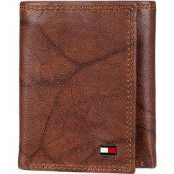 Tommy Hilfiger Mens Huck RFID Leather Tri-Fold Wallet