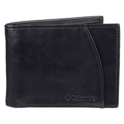 Mens RFID-Blocking Black Slimfold Wallet