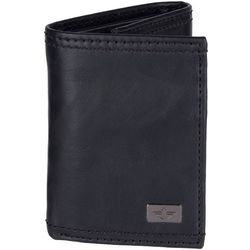 Mens RFID-Blocking Extra Capacity Tri-Fold Wallet