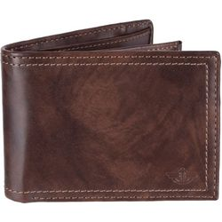 Dockers Mens RFID-Blocking Slimfold Zipper Closure Wallet