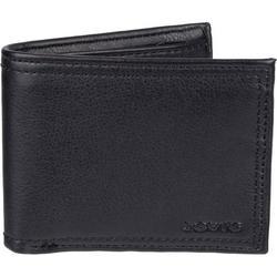 Mens RFID-Blocking Black Traveler Wallet