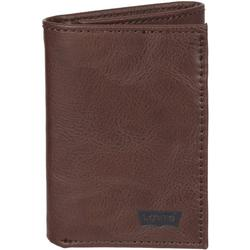 Mens Extra Capacity Brown Trifold Wallet