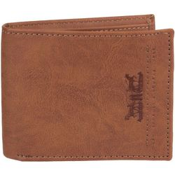 Levi's Mens RFID-Blocking Tan Traveler Wallet