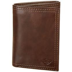 Mens RFID-Blocking Trifold Zipper Closure Wallet