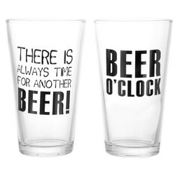 2-pc. Beer O'clock Beer Pint Glasses