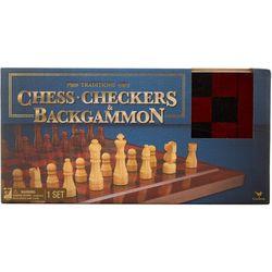 Chess, Checkers & Backgammon Board Game Set