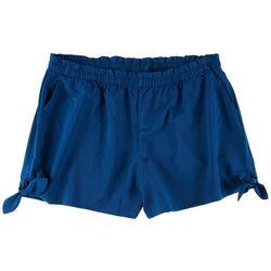 Reel Legends Plus  Tie Details Beach Day Shorts