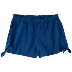 Plus  Tie Details Beach Day Shorts