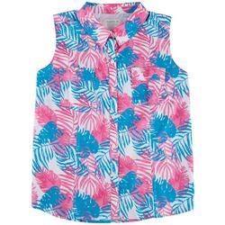Plus Foliage Button Down Shirt