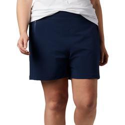 Plus Tidal Drawstring Solid Shorts