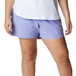 Plus Solid Mid Length Shorts