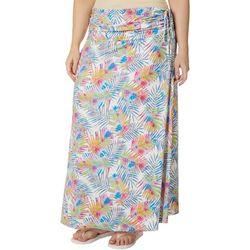 Reel Legends Plus Watercolor Palms Convertible Skirt